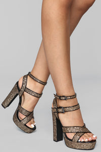 Not Fair Heeled Sandal - Black/Bronze