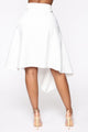 Pin My Stripe Midi Skirt - White
