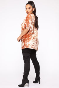 Blessed With My Presence Tunic Top - Rust