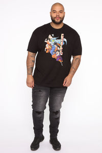 Dragon Ball Z Short Sleeve Tee - Black/combo Angle 8