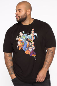 Dragon Ball Z Short Sleeve Tee - Black/combo Angle 7