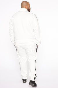 Post Track Jacket - White/Black Angle 10