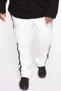 Post Cargo Track Pants - White/Combo Angle 8