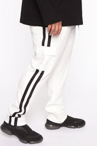 Post Cargo Track Pants - White/Combo Angle 7