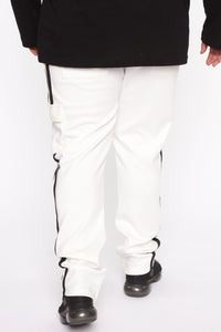 Post Cargo Track Pants - White/Combo Angle 11