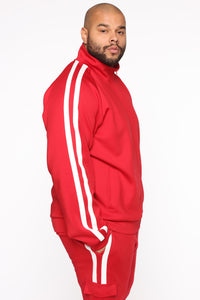 Post Track Jacket - Red/Combo Angle 9