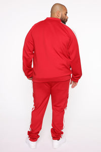 Post Cargo Track Pants - Red/Combo Angle 11