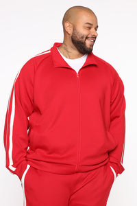 Post Track Jacket - Red/Combo Angle 7