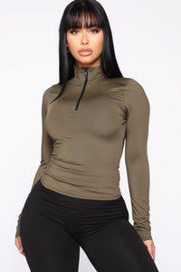 Athletic Bae Top - Olive