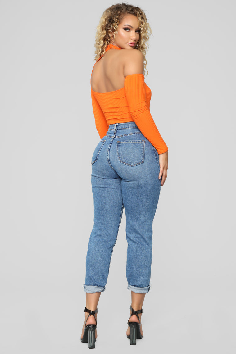 Just Want To Hold You Bodysuit - Orange