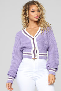 Rock With You Cardigan - Lavender