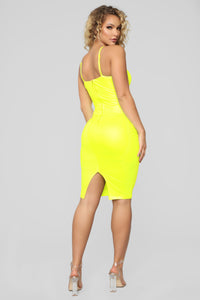 Rita Dress - Neon Yellow