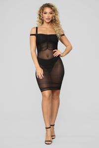 I See You Mesh Dress - Black