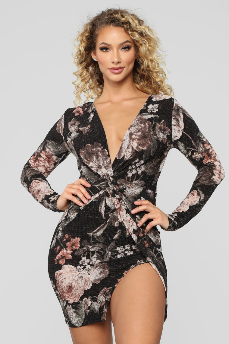 Forever Blooming Dress - Black