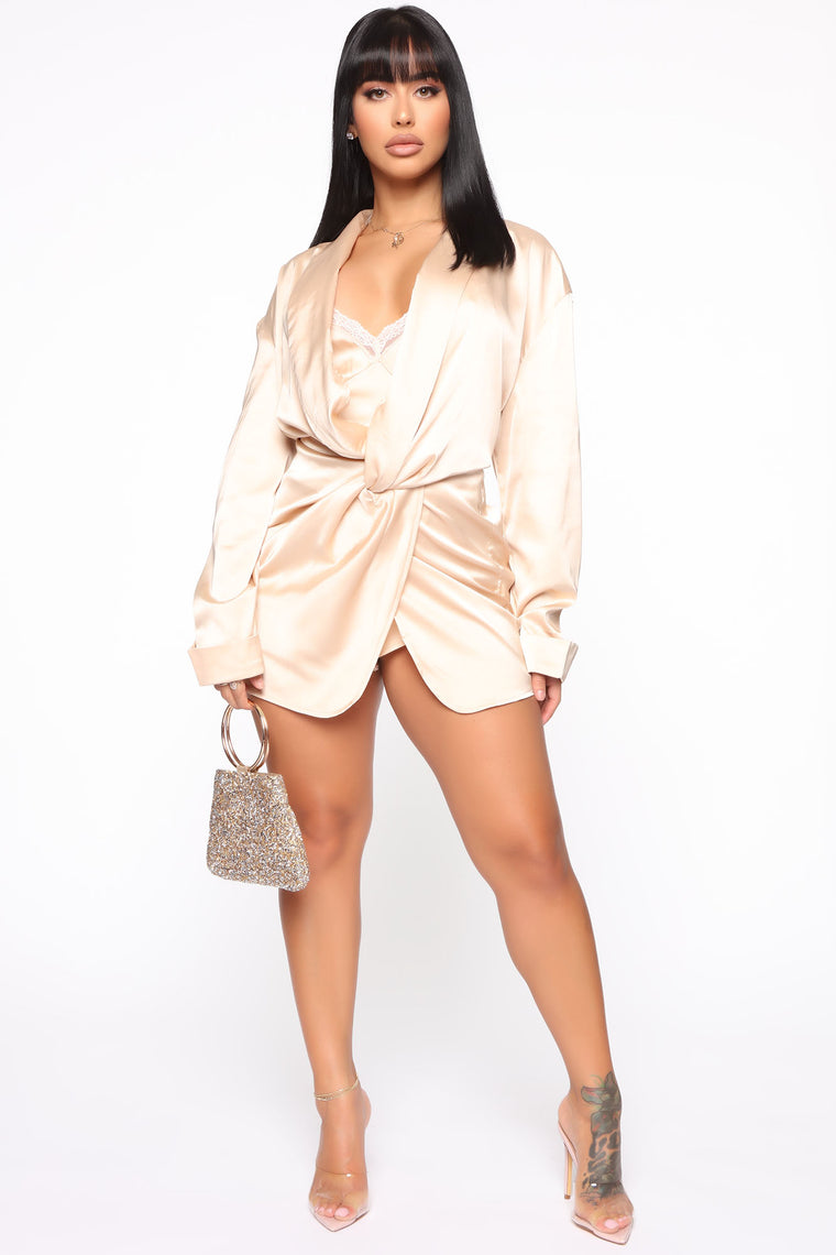 Can't Wait Romper - Taupe