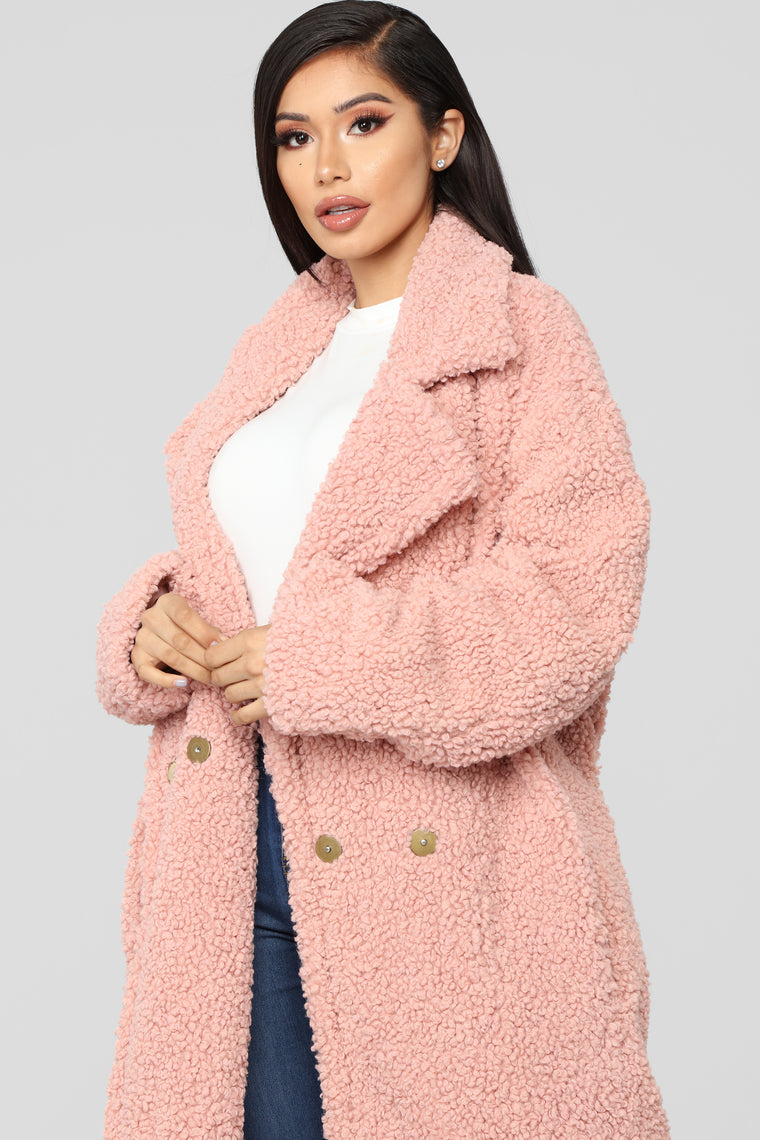 Winter In Downtown Jacket - Mauve