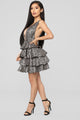 Eye Catching Ruffle Dress - Black