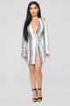 Dazzle In The Night Sequin Dress - Ivory