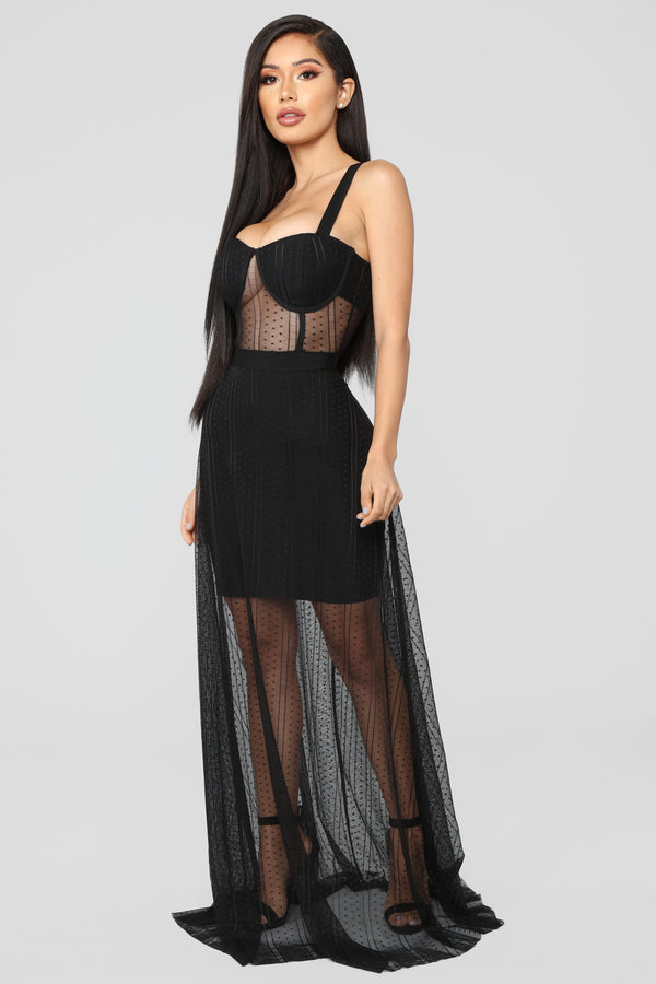 85818a3540a Couture Addict Mesh Dress - Black
