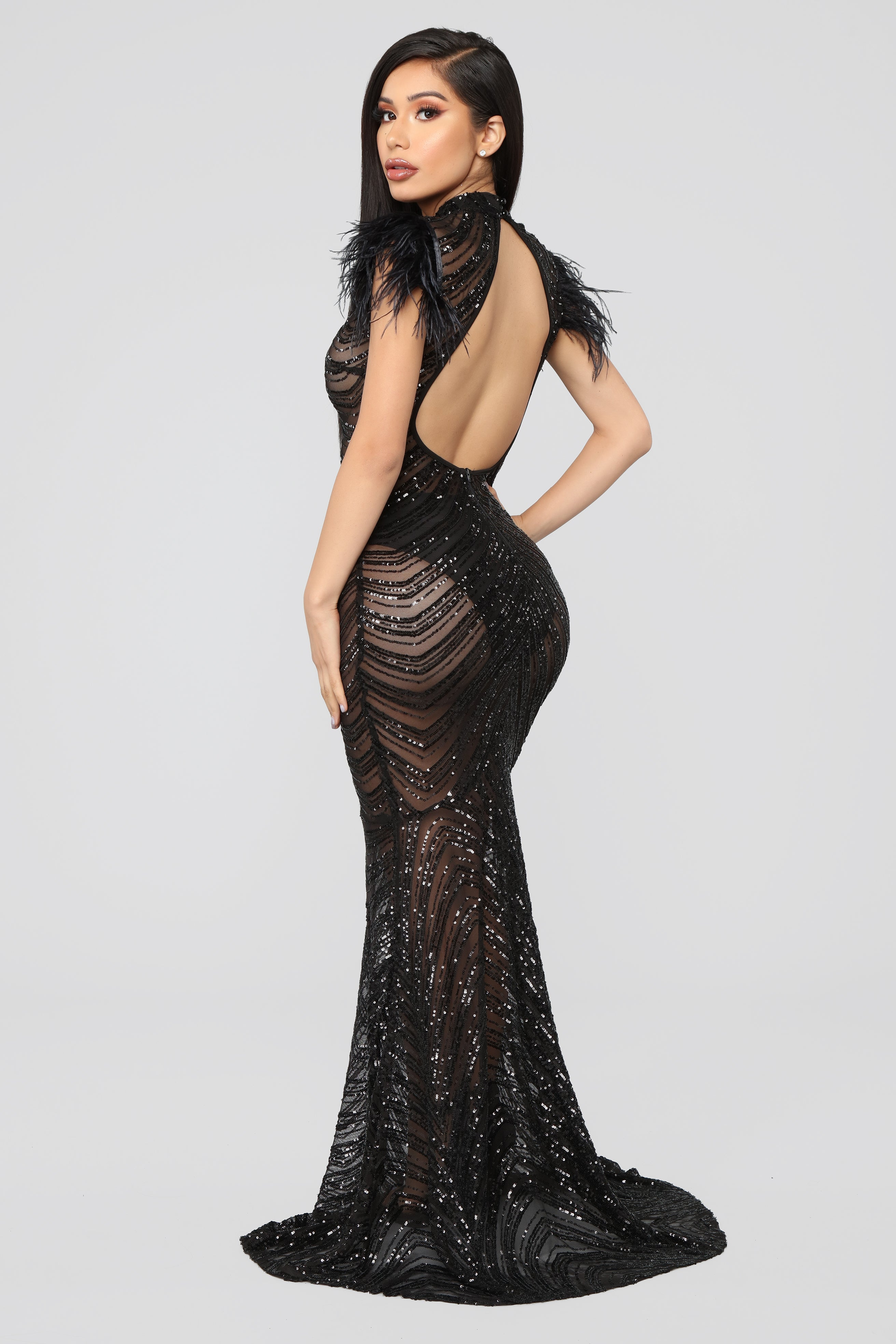 b772094a2fd Luxe Sequin Gown - Black