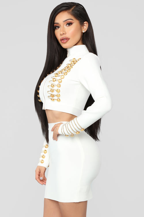 Don't Be A Womanizer Skirt Set - Ivory