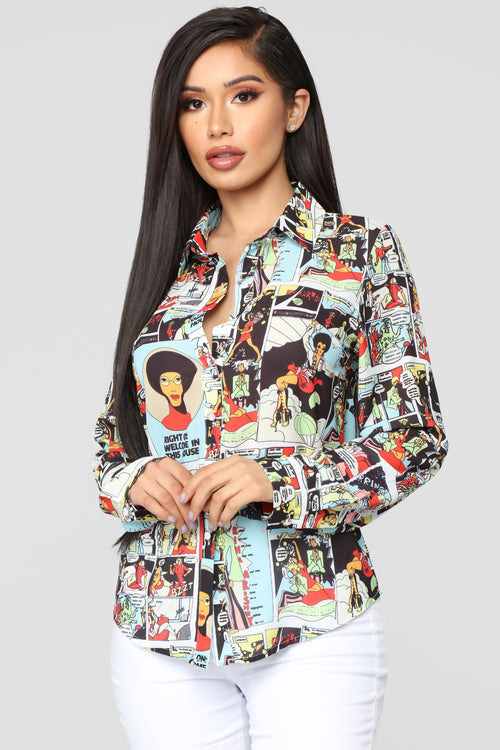 In The Scene Button Down Shirt - Multi