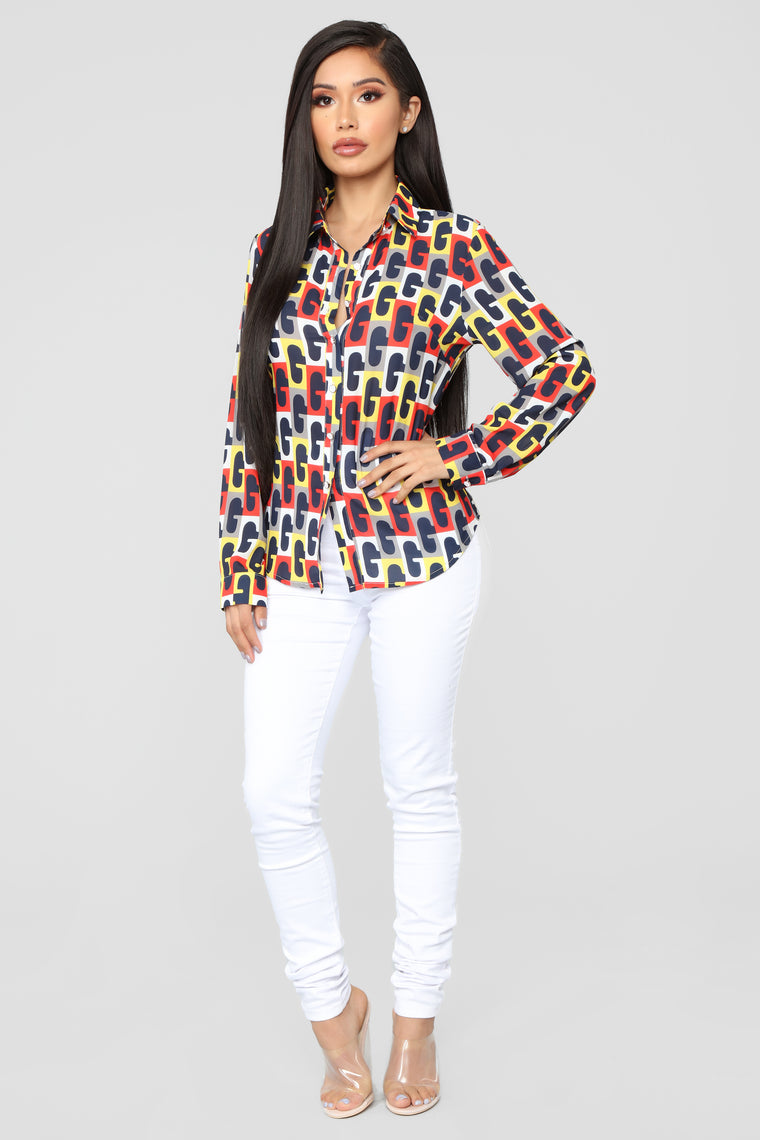 Absolutely Abstract Button Down Shirt - Multi