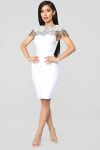 Essence Of Glamour Mini Dress - White Angle 2