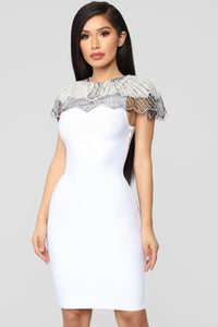 Essence Of Glamour Mini Dress - White Angle 1