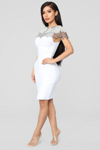 Essence Of Glamour Mini Dress - White Angle 3