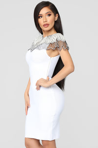 Essence Of Glamour Mini Dress - White Angle 4