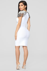 Essence Of Glamour Mini Dress - White Angle 5