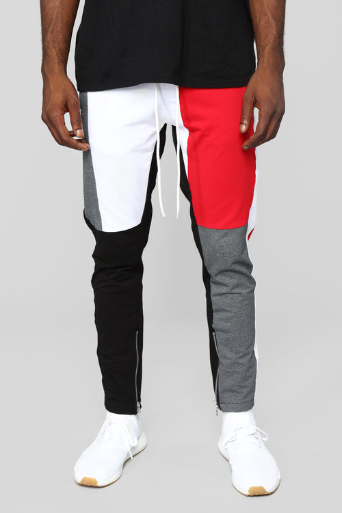 Block Party Track Pant - Grey/Combo