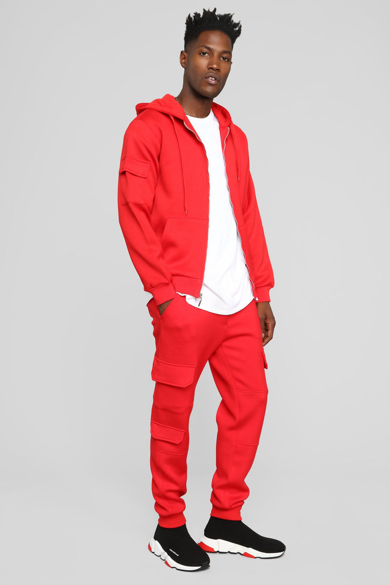 Winson Fleece Jogger Pant - Red
