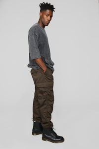 Knox Cargo Pants - Brown Angle 2