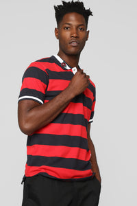 Miles Short Sleeve Polo - Red