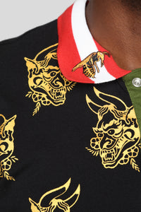 Dragon II Long Sleeve Polo - Black