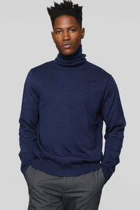 Killian Turtle Neck Sweater - Navy