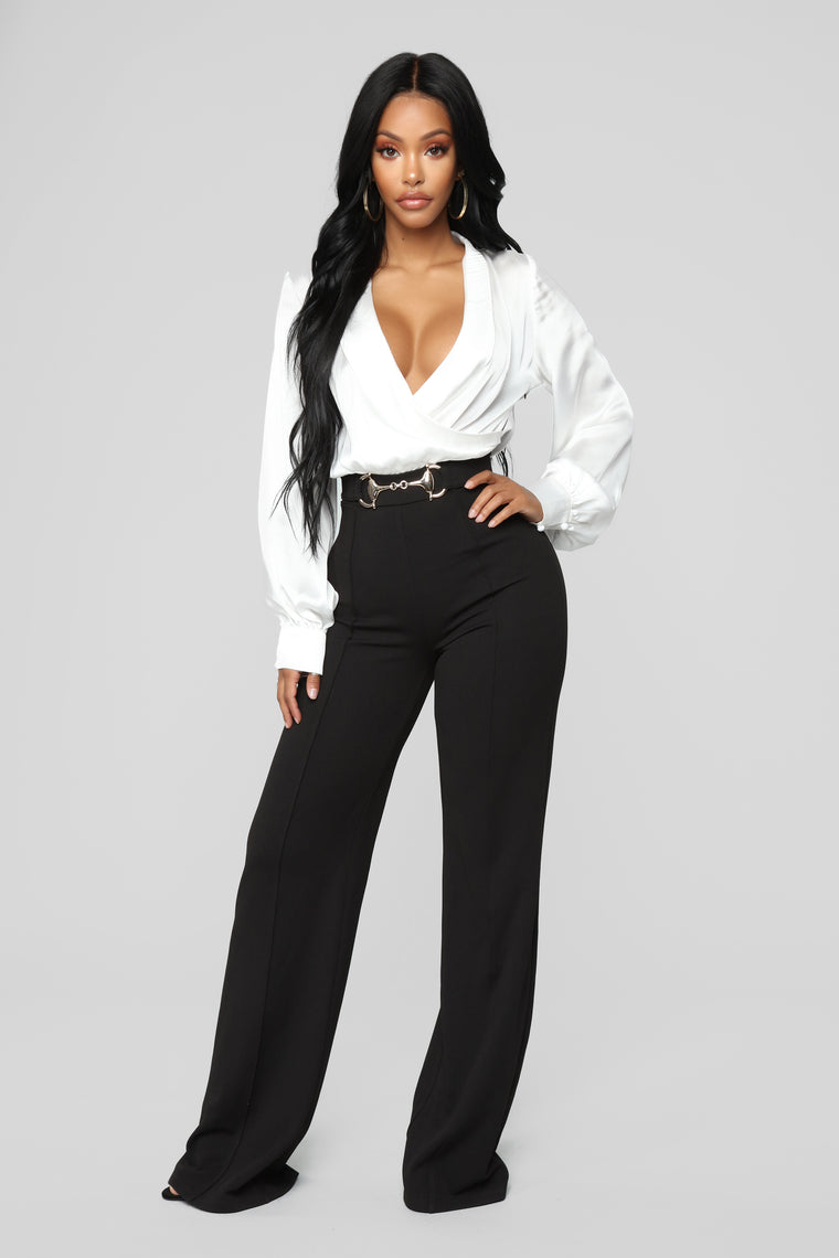 Business And Pleasure Jumpsuit - Black/White