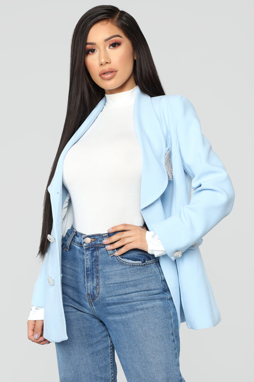 Prep For Success Blazer - Light Blue