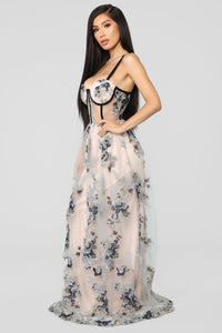 Such A Dream Maxi Dress - Blush/Grey Angle 3