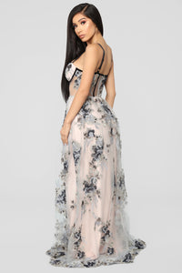 Such A Dream Maxi Dress - Blush/Grey Angle 5