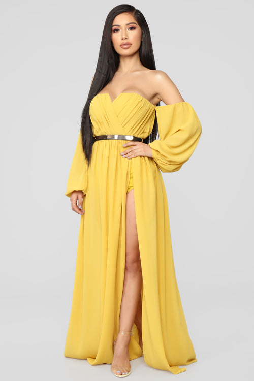 Gray and Yellow Dresses for Women