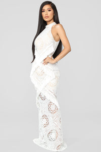 All Tassle No Hassle Lace Maxi Dress - Ivory