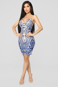 Remix Sequin Dress - Royal