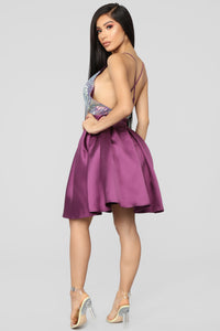 Don't Steal My Shine Sequin Dress - Plum