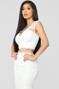 Sweet Lover Lace Skirt Set - Ivory