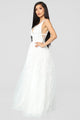 Pretty Perfect Embroidered Gown - White