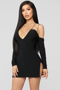 Highlight Of My Day Mini Dress - Black Angle 1