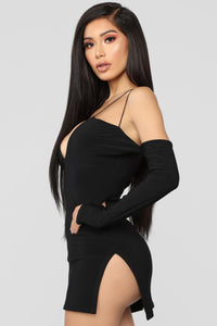 Highlight Of My Day Mini Dress - Black Angle 3